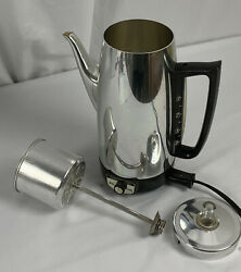 Vintage Ge General Electric Percolator Coffee Pot 10 Cup Immersible. Works