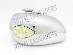 New Bsa A65l 4 Gallon Chrome Petrol Tank 1968-1970 With Badges And Cap Code 1705