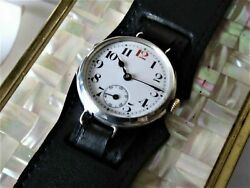 Rolex Military Silver Trench Wrist Watch Rare Early 1900s My Ref No 243.