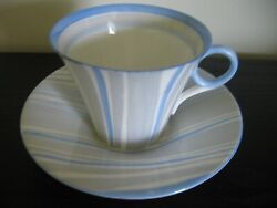 Shelley Blue Stripe Teacup And Saucer
