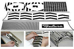 Front Grille And Rear Panel Vinyl Trim Kit Sprint Falcon 1964 90-74461-1
