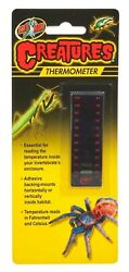 Zoo Med Creatures Thermometer Black Free Shipping