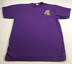B111 Vintage Disney Dopey Embroidered T-shirt Size S/m Purple Embroidered Mens