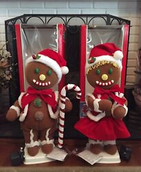 Vintage Telco Christmas Gingerbread Boy And Girl Motionette Animated Rare
