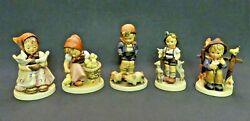Lqqk=rare=vintage=lot Of 5 Goebel Hummel Figurines= In Very Very Good Condition