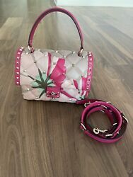 Valentino Candystud Limited And Rare To Find Top Handle Shoulder Bag