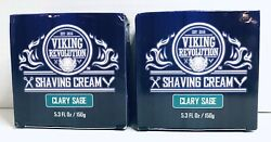 2 Pack Luxury Shaving Cream Clary Sage Scent Soft, Smooth And Silky Shaving Soap