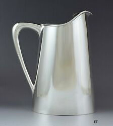 Baldwin And Miller Midcentury Modern Hand Made Sterling Silver Water Pitcher 8