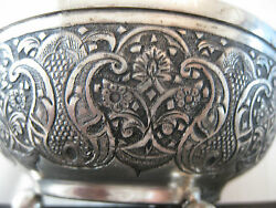 Vintage Museum Quality Solid Silver Persian Islamic/ Middle Eastern Bowls