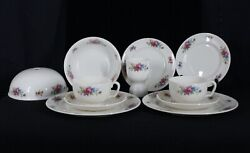 Rare Vintage Lenox China Mf14 Pattern 11 Piece Breakfast For Two Service Set