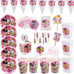 Minnie Mouse Disney Party Supplies Tableware, Balloons And Decorations,cups,plates