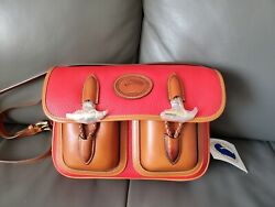 Dooney and Bourke Vintage Medium Double Pocket Outback R35 in Red $450.00