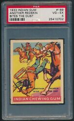 1933 Indian Gum 189 Another Redskin Bites The Dust Series Of 312 Psa 4 Vg-ex