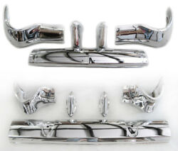 Sale 1956 Chevy Chevrolet Pair Front + Rear Bumpers 10 Pcs New Triple-plated