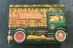 Delivery Truck Tin Seattle Starbucks Coffee Company Silver Crane Advertising