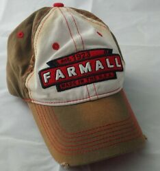 Farmall Logo Est 1923 Made In Usa Distressed Brown Cap Hat Adjustable