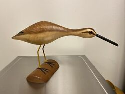Wooden Sand Piper Duck Decoy By Wildfowler Decoys Babylon Ny