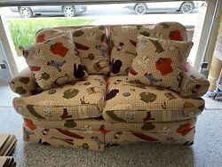 Vintage Fly Fishing Vest Creel Mountain River Cabin Sofa Couch 90and039s