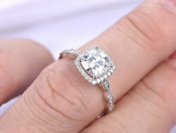 0.75 Carat Natural Diamond Engagement Promise Ring 14k Solid White Gold Size 6 7