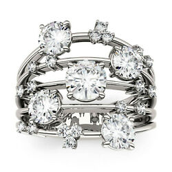 Moissanite By Charles And Colvard Fashion Galaxy Ring- Size 6, 3.15cttw Dew