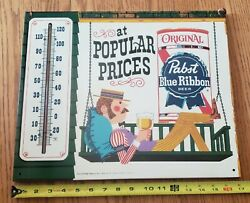 1960and039s Pabst Blue Ribbon Beer Gay 90and039s Lazy Afternoon Porch Swing Thermometer