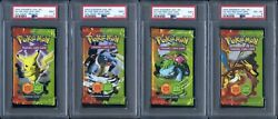 2004 Pokemon Ex Fire Red Leaf Green | 4 Authentic Packs | All 4 Psa 9, 9, 9, 8