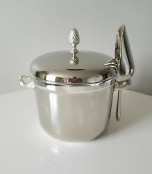 Vintage Towle Silver Plate Pineapple Ice Bucket With Ice Scoop