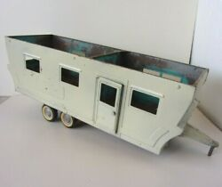 Rare Vintage Steel Nylint Tin Metal Toy Mobile Home Trailer - 21 Long