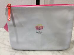 Kate Spade NY Live Color Fully Cosmetic Makeup bag 10 x 8quot; Brand New Sealed $11.00