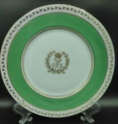 Antique French Limoges Plate Charles Ahrenfeldt King Louis Philippe I C.1840and039s