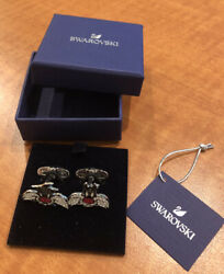 New In Box Authentic Crystals Looney Tunes Sylvester The Cat Cufflinks