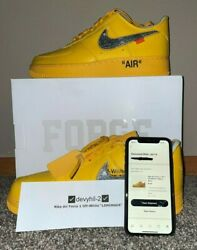 ✅size 11.5 - Nike Air Force 1 Low X Off-white University Gold - Dd1876-700