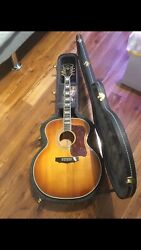 Guild F 50 Vintage Acoustic Guitar Rare Golden Burst From 1975 Made In Usa .