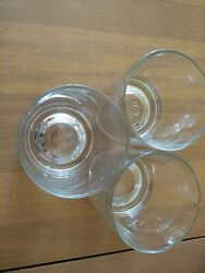3 Crown Royal Commemorating 75 Years Rocks Glasses Italy Numbered 18, 19 And 36