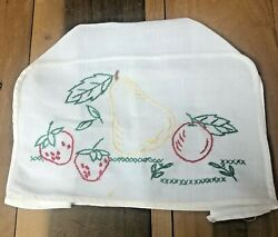Vintage 2 Slice Toaster Cover Embroidered Fruit Designs Kitchen Appliance Cozy