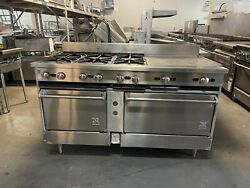 Jade Range 6 Burners And 24 Griddle Ovens Cancel Out Liquid Propane Gas