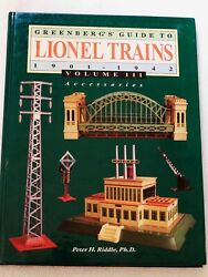 Greenbergand039s Guide To Lionel Trains Accessories 1901-1942 Vol.111 Hard Cover