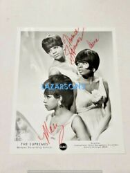 The Supremes Signed Motown Photo Diana Ross Florence Ballard Mary Wilson 1960s