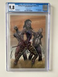 Walking Dead 15th Anniversary 19 Virgin Variant Cgc 9.8 Michonne White Pages