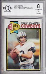 1979 Topps Football 400 Roger Staubach Graded Bccg Nm Mint 8 Make A Offer Sale