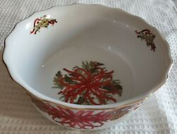 Andrea By Sadek Christmas Garland Vegetable Bowl 7 3/8and039and039 Wide