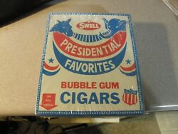 Vintage Ronald Reagan Swell Presidential Bubble Gum Cigar Sealed Box Of 24