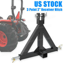 3 Point 2 Receiver Trailer Hitch Heavy Duty Drawbar Adapter Category 1 Tractor