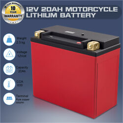 20l-bs 12v 20ah 650cca Motorcycle Lithium Iron Batteries Replace Atx20-hd