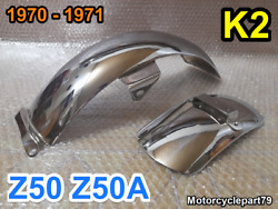 Honda Z50 Z50a K2 1970 - 1971 Chrome Long Tail Rear And Front Mud Guard Fender.
