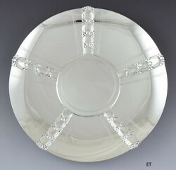 Vtg C1950 And Co Sterling Silver Tomato Pattern Footed Serving Dish 10