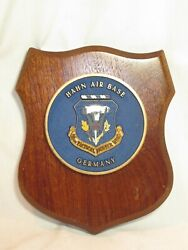 Vintage Hahn Air Base 50th Tactical Fighter Wing Germany Plaque Display Medal