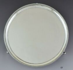 Antique 1805 English Georgian Sterling Silver Round Footed Tray Bateman 10