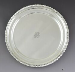Impressive C1930 And Co Sterling Silver Round Platter Tray Charger 13