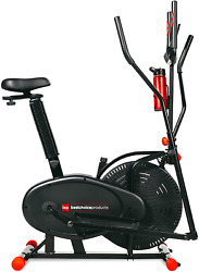 Best Choice Products 2-in-1 Elliptical Trainer Exercise Bike Home Fitness Machi